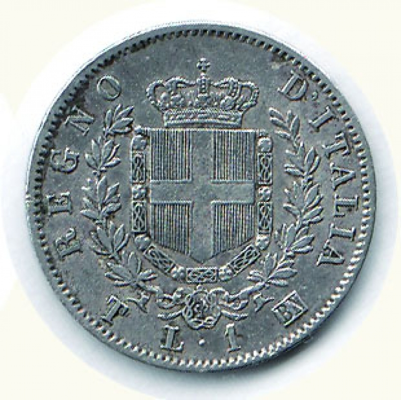 reverse: VITTORIO EMANUELE II - Lira 1863 To.