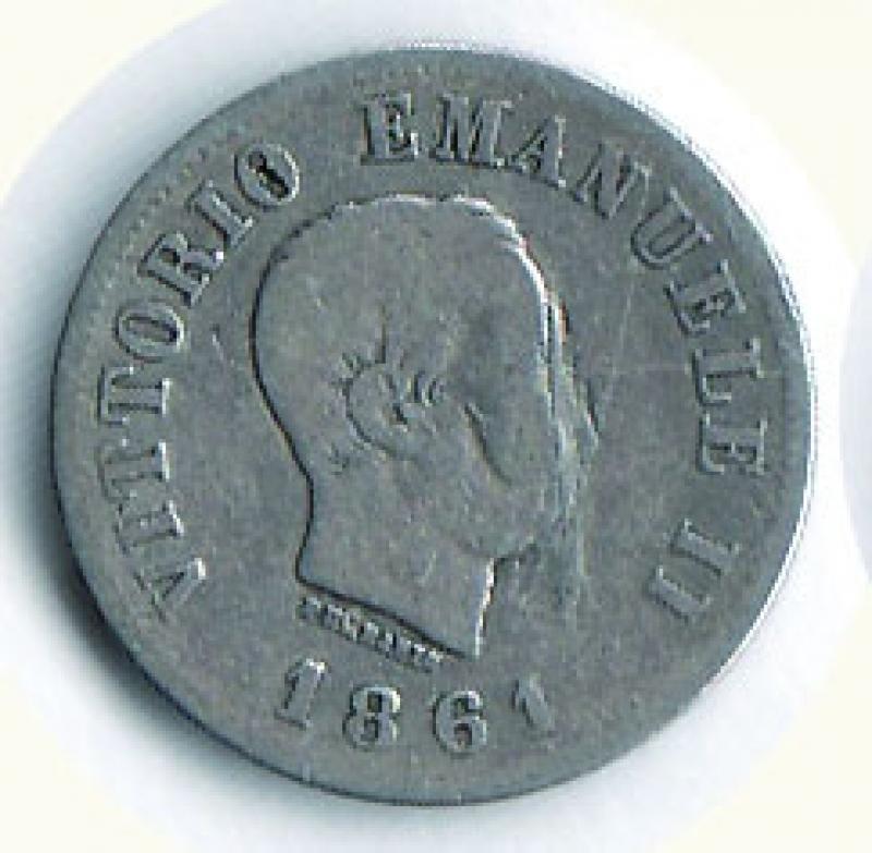 obverse: VITTORIO EMANUELE II - 50 Cent. 1861 Firenze.