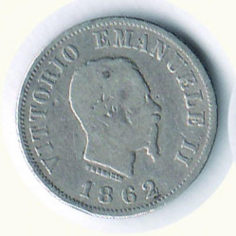 obverse: VITTORIO EMANUELE II - 50 Cent. 1862 Na.