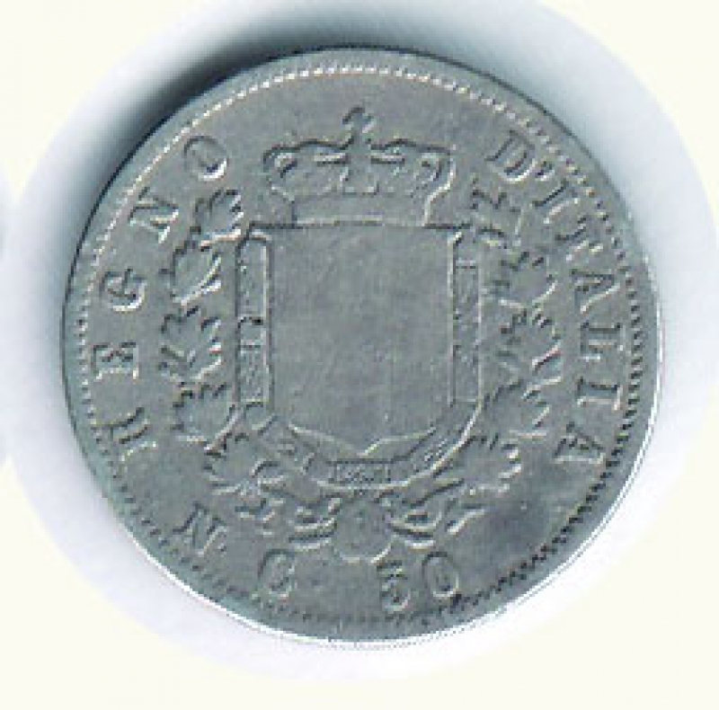 reverse: VITTORIO EMANUELE II - 50 Cent. 1862 Na.