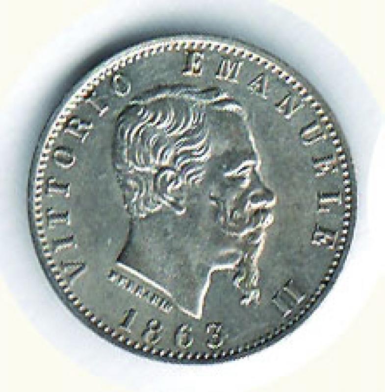 obverse: VITTORIO EMANUELE II - 20 Cent. 1863 Mi.