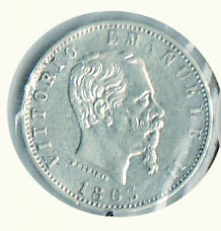 obverse: REGNO D ITALIA - VITTORIO EMANUELE II - 20 Centesimi