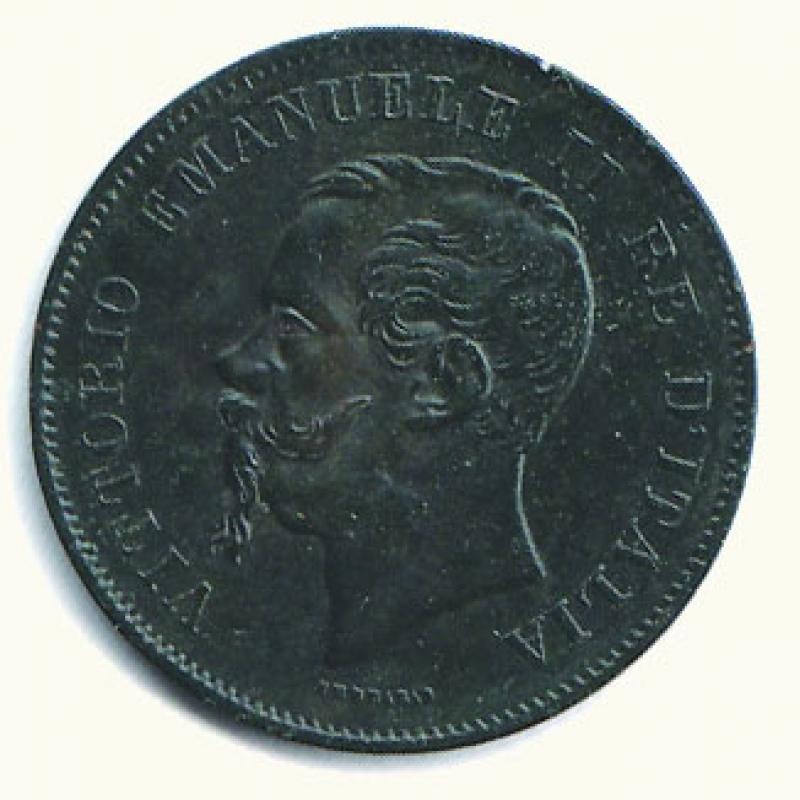 obverse: VITTORIO EMANUELE II - 5 Cent. 1861 Bologna.