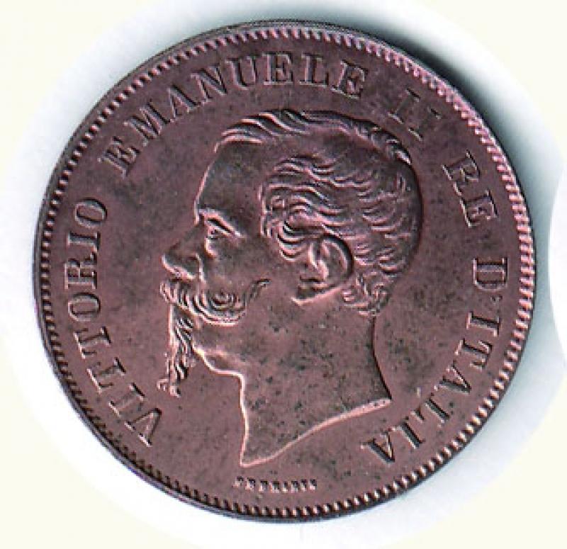 obverse: VITTORIO EMANUELE II - 5 Cent. 1861 Mi.