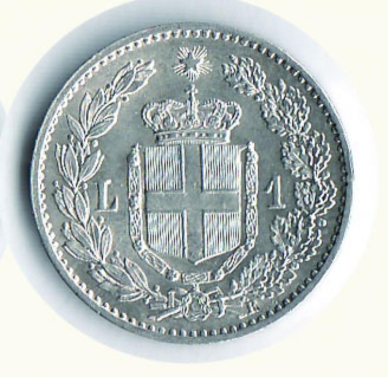 reverse: UMBERTO I - Lira 1900.