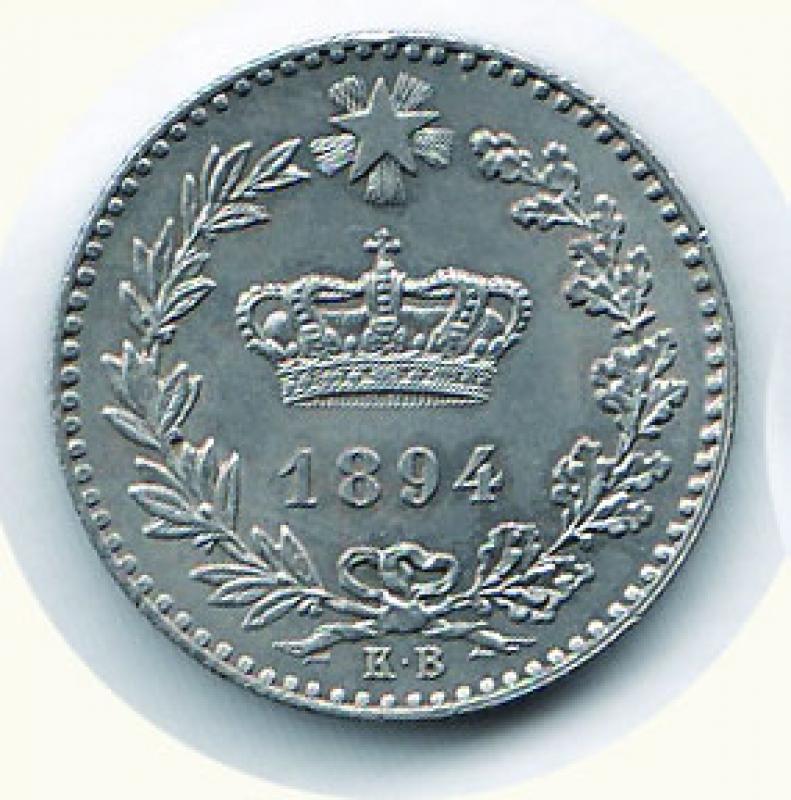 obverse: UMBERTO I - 20 Cent. 1893 KB.