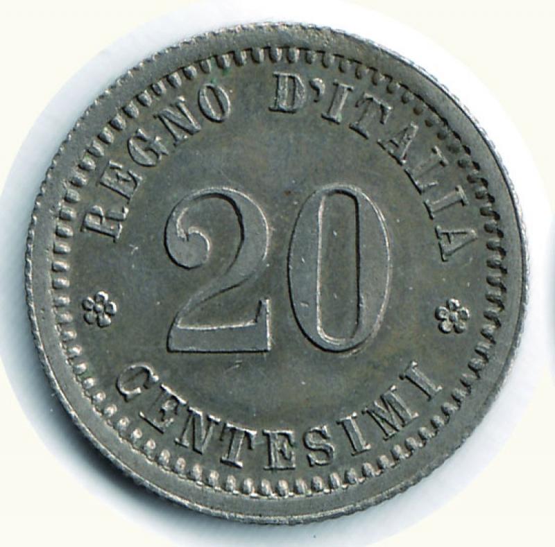 obverse: UMBERTO I - 20 Centesimi 1893