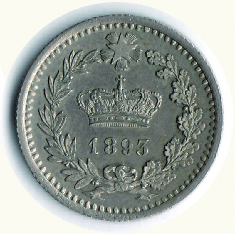 reverse: UMBERTO I - 20 Centesimi 1893