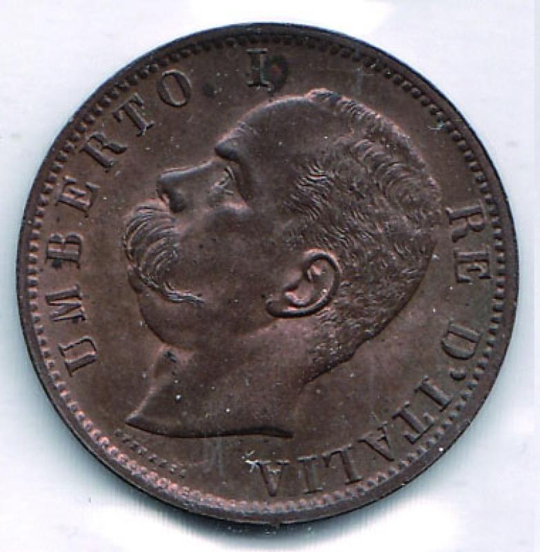 obverse: UMBERTO I - 10 Centesimi 1894