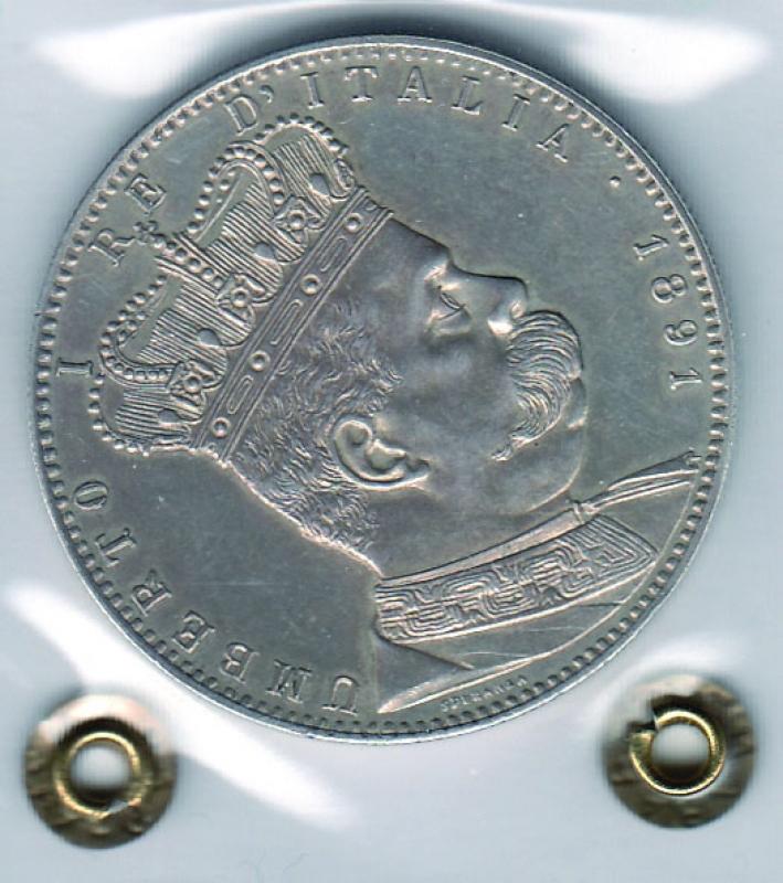 obverse: UMBERTO I - Tallero Eritrea 1891