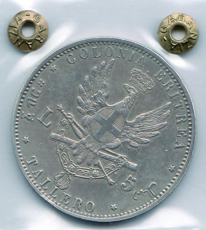 reverse: UMBERTO I - Tallero Eritrea 1891