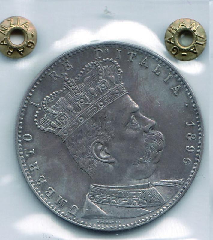 obverse: UMBERTO I - Tallero Eritrea 1896