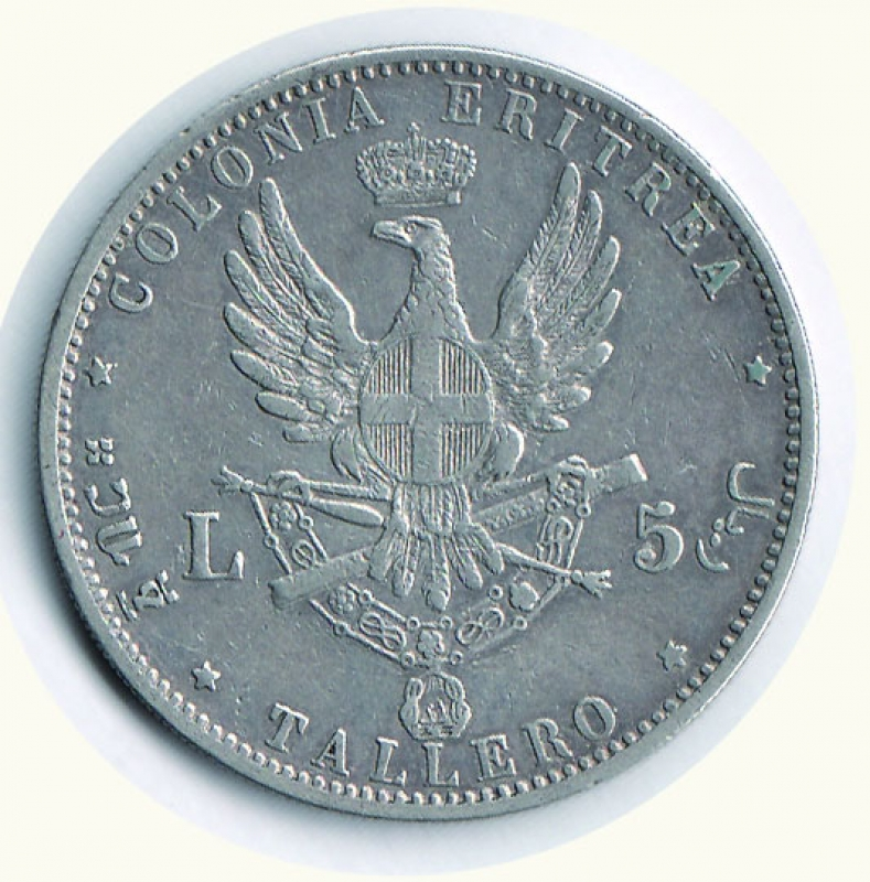 reverse: UMBERTO I - Tallero Eritrea 1896.
