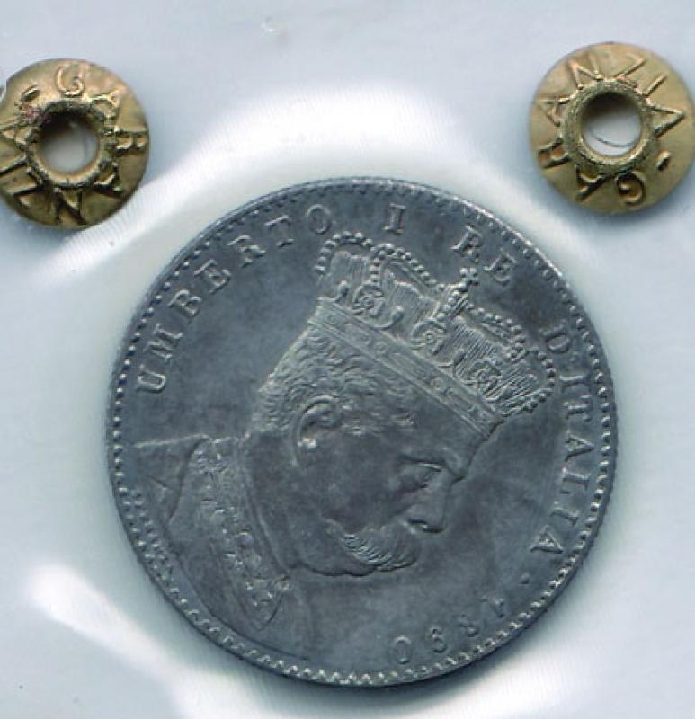 obverse: UMBERTO I - 2 Lire 1890 Eritrea -