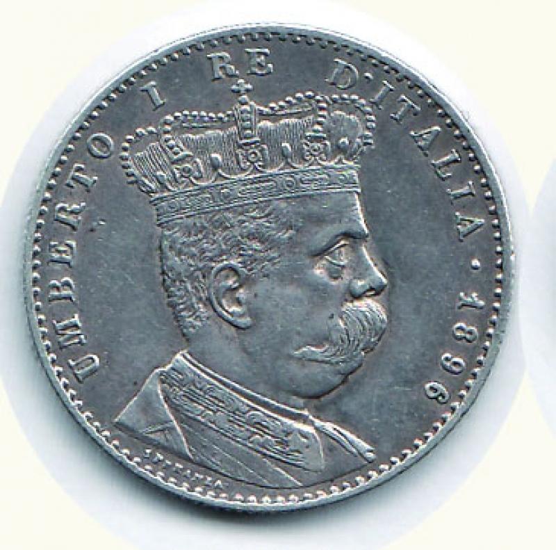 obverse: UMBERTO I - 2 Lire 1896 Eritrea.