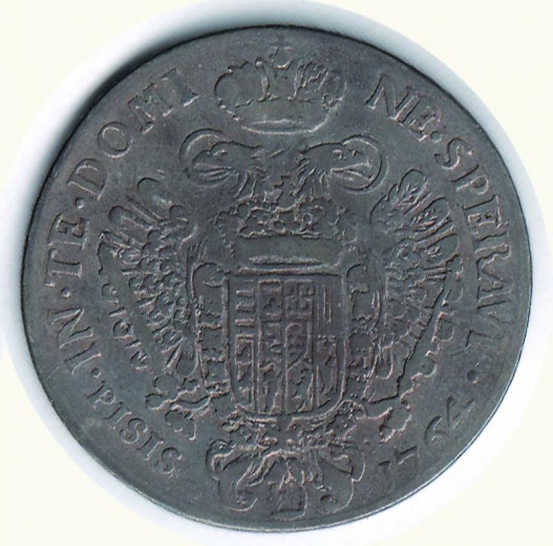 reverse: FIRENZE Francesco II - Francescone 1764