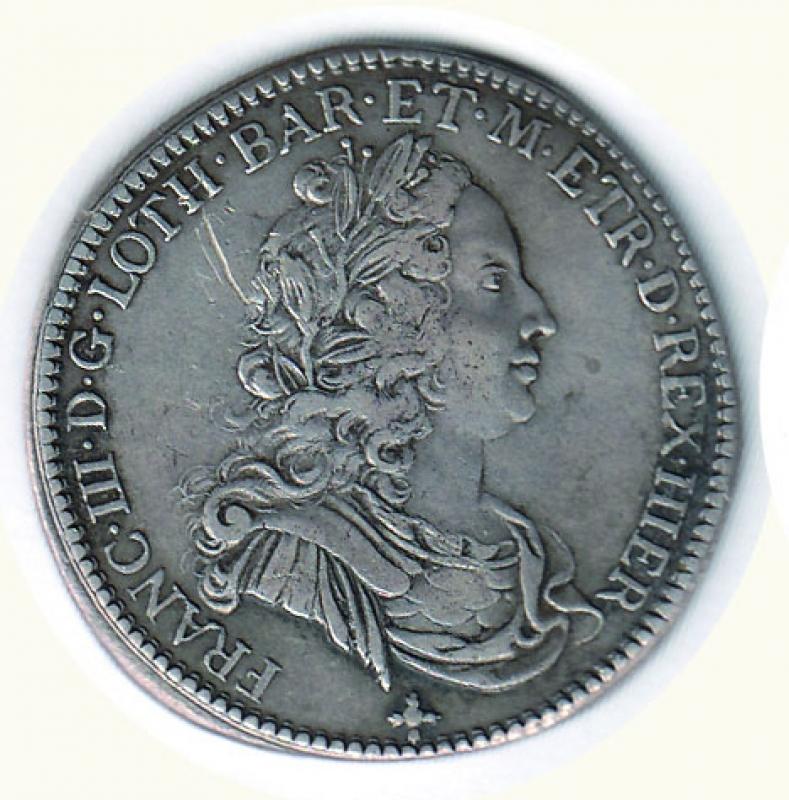 obverse: FIRENZE - Francesco II di Lorena - ½ Francescone 1739