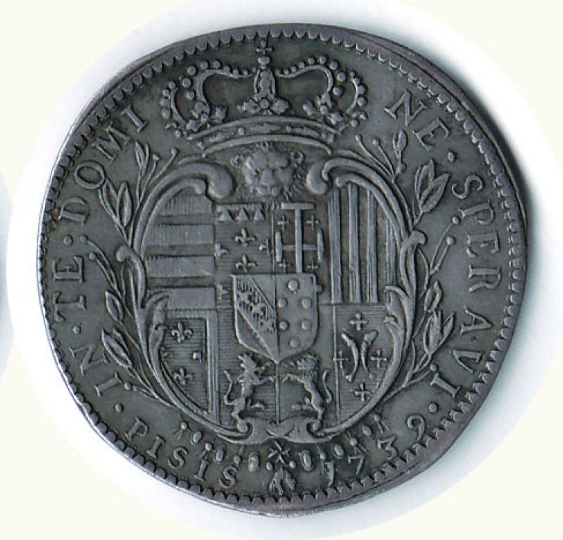 reverse: FIRENZE - Francesco II di Lorena - ½ Francescone 1739