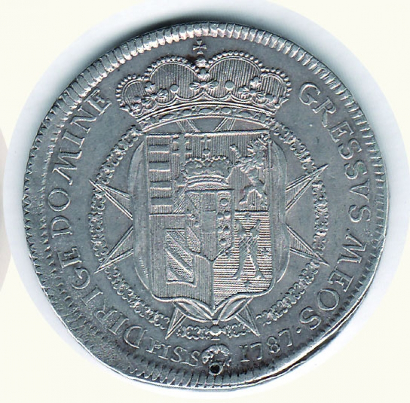 reverse: Firenze - Pietro Leopoldo (1765-1790) -  Francescone 1787