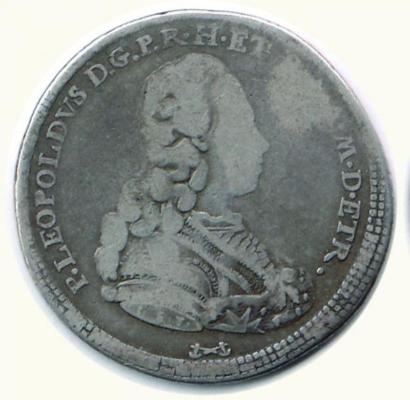 obverse: FIRENZE - P. Leopoldo - Mezzo Francescone 1778