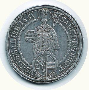 reverse: AUSTRIA - Salisburgo - Tallero 1661