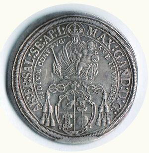 reverse: AUSTRIA - Salisburgo - Max Gandolph (1668-1687) - Tallero 1668