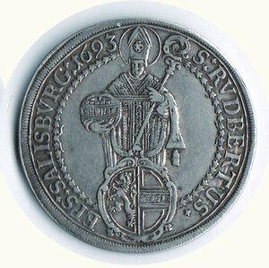 reverse: AUSTRIA - Salisburgo -  Johan Ernest di Thun Homenstein (1687-1709) - Tallero 1693.