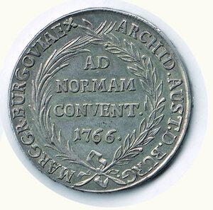 reverse: AUSTRIA - Maria Teresa - Tallero di convenzione 1766.