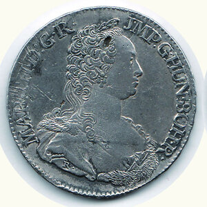 obverse: AUSTRIA - Possedimenti olandesi - Maria Teresa - Tallero 1751