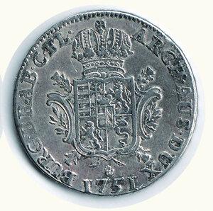 reverse: AUSTRIA - Possedimenti olandesi - Maria Teresa - Tallero 1751