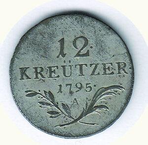 reverse: AUSTRIA - Francesco II - 12 Kreutzer 1795 - Zecca Vienna.