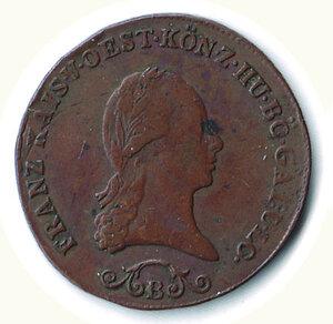 obverse: AUSTRIA - Francesco II - 3 Kreuzer 1812.