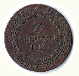 reverse: AUSTRIA - Francesco II - 3 Kreuzer 1812.