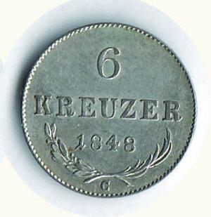 reverse: AUSTRIA - Ferdinando I - 6 Kreuzer 1848 - Zecca C