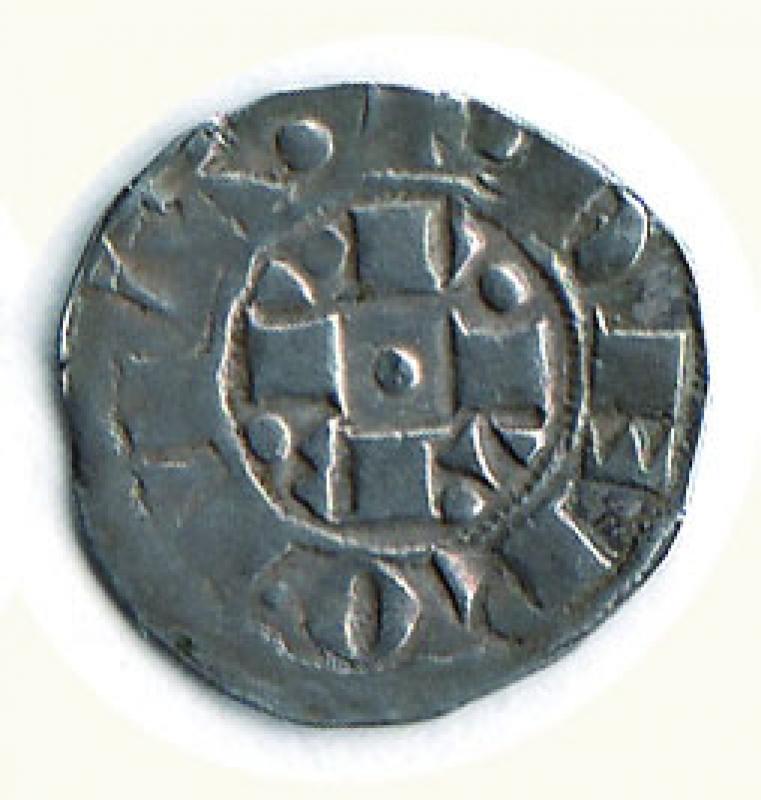 reverse: BOLOGNA - Gregorio XI  (1370-1378) - Bolognino romano