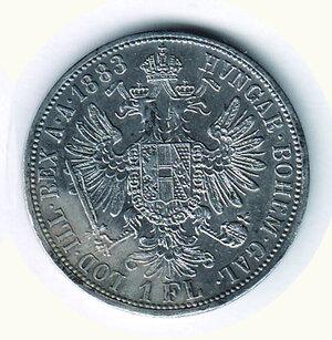 reverse: AUSTRIA - Francesco Giuseppe - Fiorino 1883.
