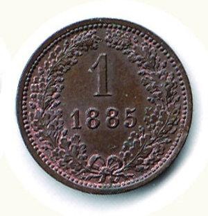 reverse: AUSTRIA - Francesco Giuseppe - 1 Kreuzer 1885.
