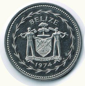 obverse: BELIZE - 10 Dollari 1974.