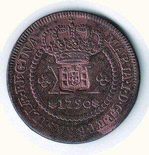 reverse: BRASILE - Mato Grosso - 80 Reis 1790