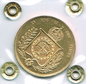 reverse: BRASILE - Pietro - 20.000 Reis 1853.