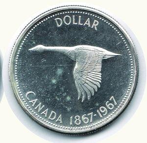 reverse: CANADA - Dollaro 1967 - Centenario Confederazione.