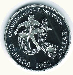 reverse: CANADA - Dollaro 1983 - Universiadi.