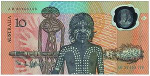 obverse: AUSTRALIA - 10 Dollars 1988