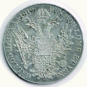 reverse: AUSTRIA Francesco I - Tallero 1819