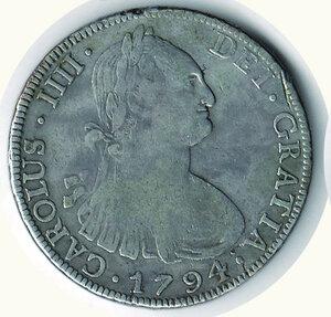 obverse: BOLIVIA Carlo IV (1788-1808) - 8 Reales 1794