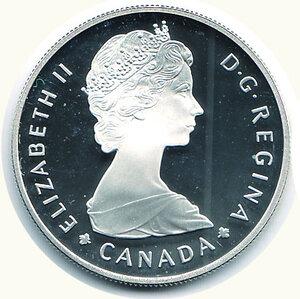 obverse: CANADA - Dollaro 1985 - Centenario Parchi Nazionali