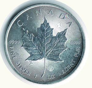 reverse: CANADA - 5 Dollari 2002 - Foglia d'acero.