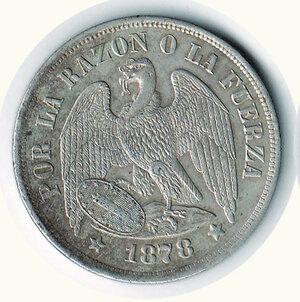 obverse: CILE Repubblica - Peso 1878  - S (Santiago)