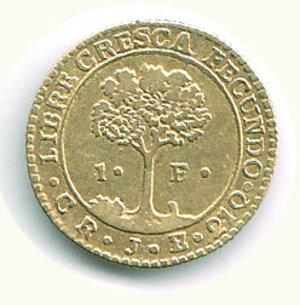 reverse: COSTA RICA - 1 Scudo 1846.