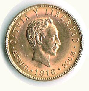 obverse: CUBA - 5 Pesos 1916.